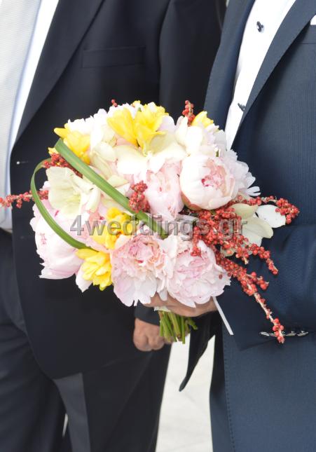 Γάμος σε λευκό φόντο